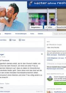 Väter ohne Rechte begrüßt das 3000. Facebook-Gruppen Mitglied