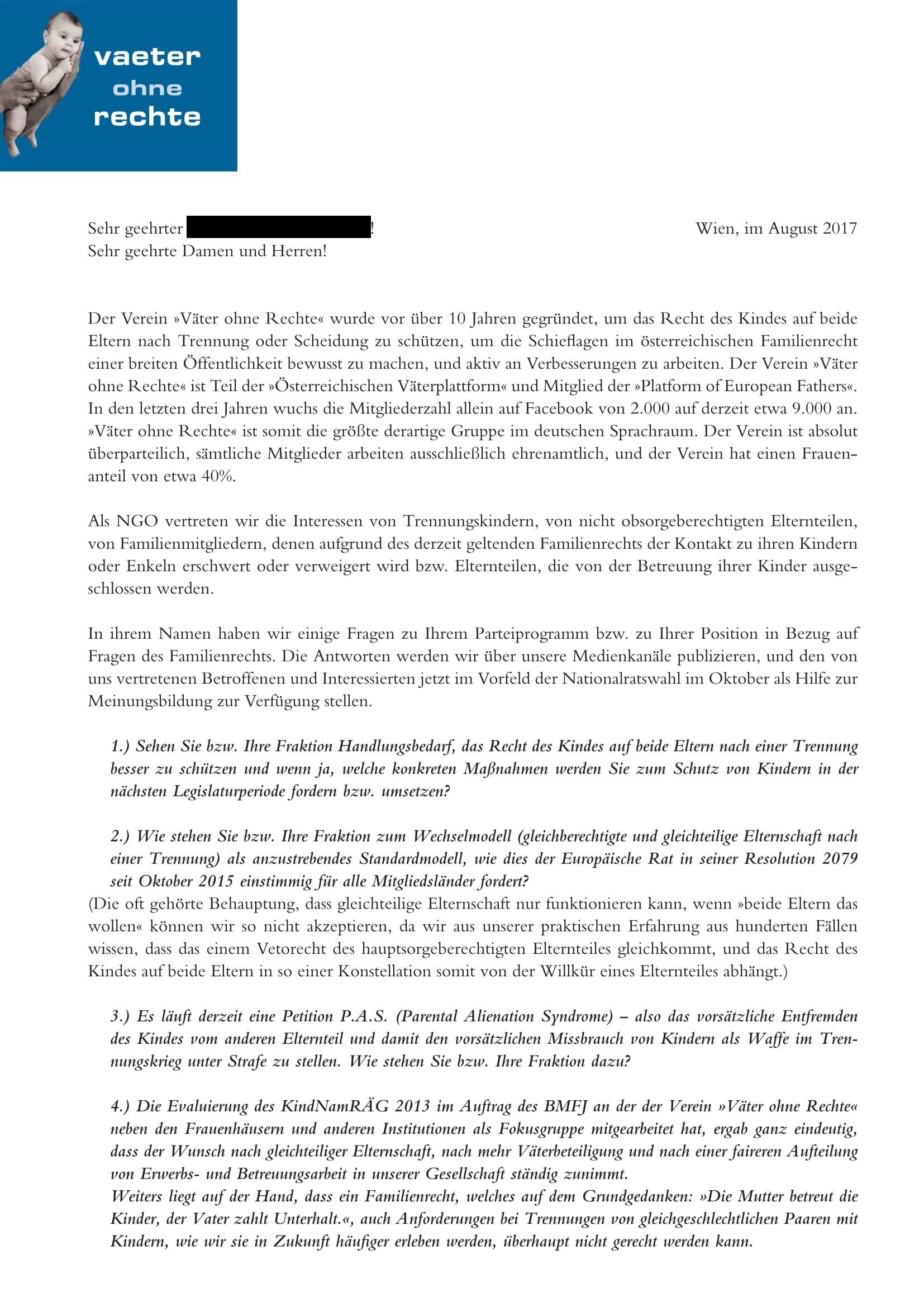 Muster Seite 1 Fragen an die Parteien August 2017